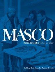 Masco Corporation 2007 ANNUAL REPORT
