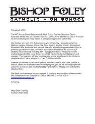 February 6, 2009 The 40th Annual Bishop Foley Catholic High ...