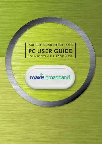 EBC70816A USB PC User Guide R1 - Maxis