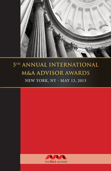 5th annual international m&a advisor awards - Maadvisor.net