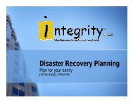 Disaster Recovery Planning - Optimize Inventory