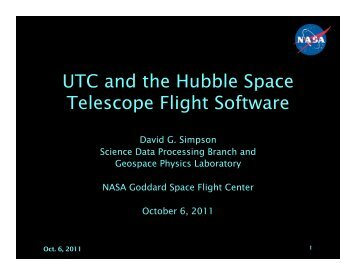 UTC and the Hubble Space Telescope Flight Software