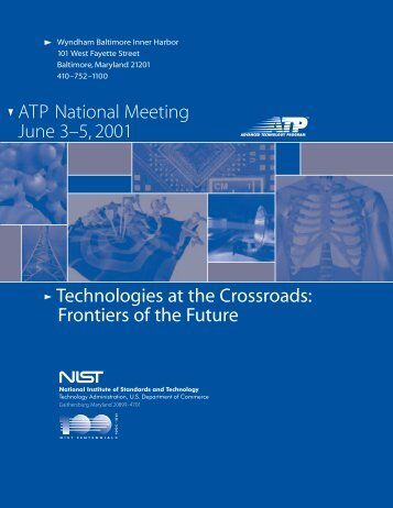 ATP National Meeting June 3–5, 2001 Technologies at the ...