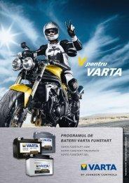 Catalog baterii Varta pentru motociclete - Baterii auto
