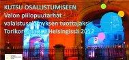 Valon piilopuutarhat - Suomen Valoteknillinen Seura