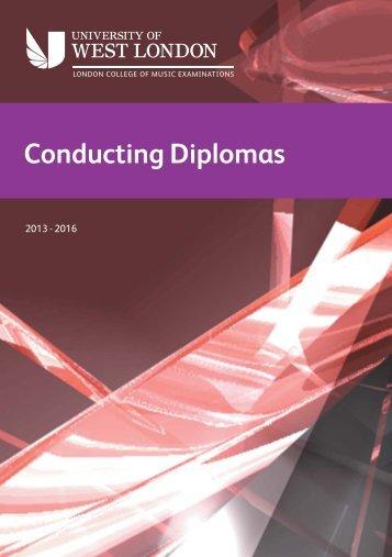 Conducting Diplomas Syllabus (pdf, 388 kb) - University of West ...