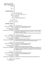 Curriculum Giovanna Colasante - Parco Nazionale d'Abruzzo Lazio ...