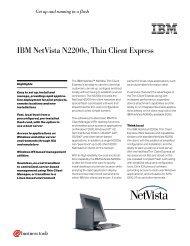 IBM NetVista N2200e, Thin Client Express