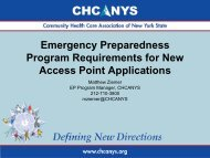 Emergency - Community Health Care Association of New York State