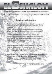 Zeitung 22 - Evangelisches Jugendhaus Shalom Gera