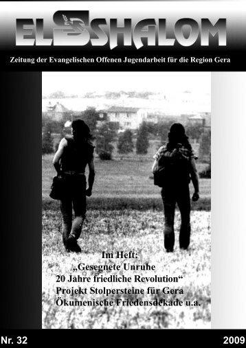 Gesegnete Unruhe 20 Jahre friedliche Revolution - Evangelisches ...