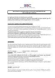 Le règlement intérieur - Blanche de Castille