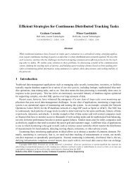 Efficient Strategies for Continuous Distributed Tracking Tasks - SoftNet