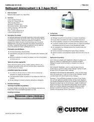 Nettoyant désincrustant 1 & 2 Aqua Mix® - Custom Building Products
