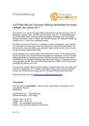 2875 Mal Hilfe von der Thüringer Stiftung HandinHand