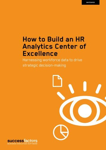 How to Build an HR Analytics Center of Excellence - Bitpipe