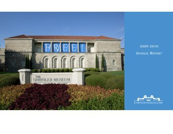 download our annual report - Chrysler Museum of Art