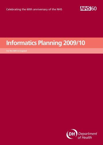 Informatics Planning 2009/10 - NHS Connecting for Health
