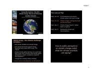 The Lecture Plan how do public perceptions on climate change ...