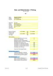 Heiz- und Nebenkosten - Prüfung