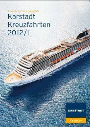 Karstadt Kreuzfahrten 2012/I