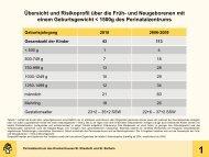 Ergebnisse der Qualitätssicherung 2010 - Krankenhaus St ...