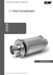 Die Passiv-Schalldämpfer - Kutzner+Weber