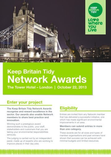 Network Awards guidance - Keep Britain Tidy