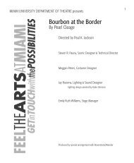 Bourbon at the Border - Miami University School of Fine Arts