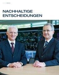 Nachhaltige Entscheidungen Interview mit Dr. Ludwig Summer und ...