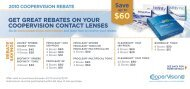 Save Up to $30 Mail-In Rebate on Proclear EP ... - CooperVision