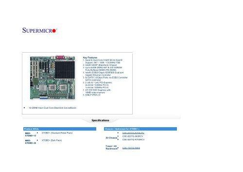 BIOS Chip SUPERMICRO X7DBE X7DBE+
