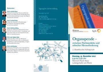 HPH Tagung zur Organspende