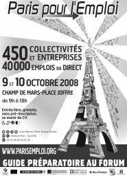 Guide préparatoire au forum - Carrefour Emploi