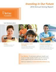 2010 Aetna Foundation Annual Giving Report - English