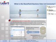 SharePoint Business Data Catalog  (BDC) vs ... - Layer 2 GmbH