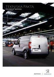tekniska fakta - Peugeot