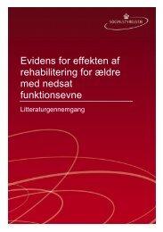 Evidens for effekten af rehabilitering for ældre med ... - Socialstyrelsen