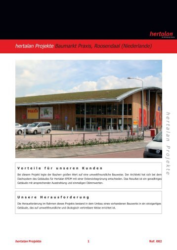 hertalan Projekte Baumarkt Praxis, Roosendaal (Niederlande ...