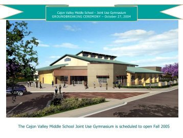 Groundbreaking Ceremony - Cajon Valley Union School District