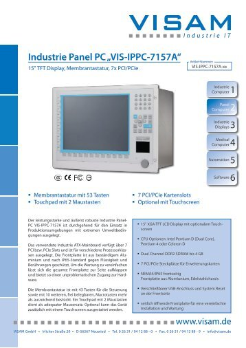 "1 Industrie Panel PC ""VIS-IPPC-7157A"""
