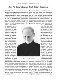 Zum 75. Geburtstag von Prof. Robert Spaemann - Pro Missa Tridentina