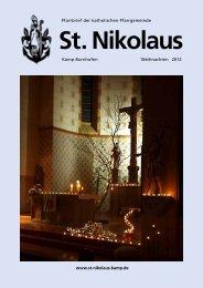 Pfarrbrief Weihnachten 2012 - St. Nikolaus Kamp-Bornhofen