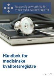 HÃ¥ndbok for medisinske kvalitetsregistre - Helse Nord