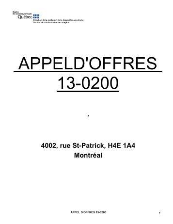 Catalogue Prix de vente Internet - Disposition des biens