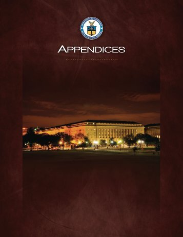 APPENDICES - Department of Commerce