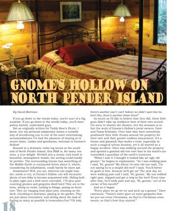 Gnome's Hollow on North Pender Island - David Morrison - The ...