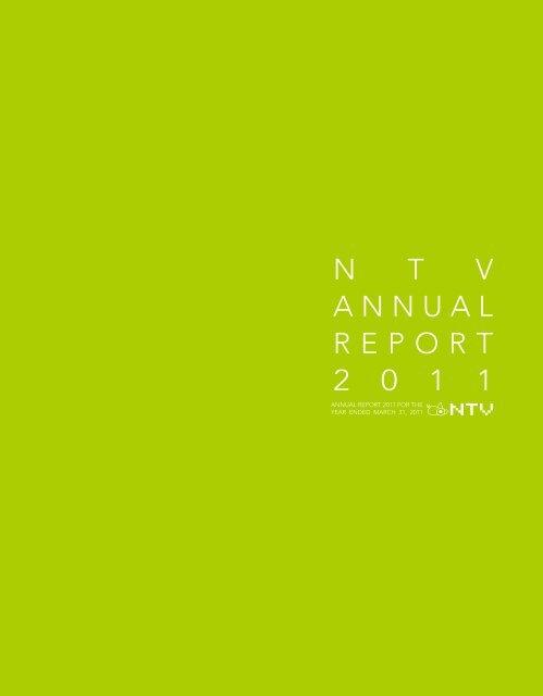 NTV Annual Report 2011 - 日本テレビホールディングス株式会社