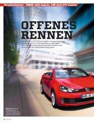 Vergleichstest BMW 125i Cabrio, VW Golf GTI ... - Volkswagen AG