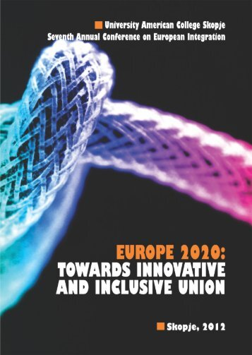 europe 2020: towards innovative and inclusive union - University ...